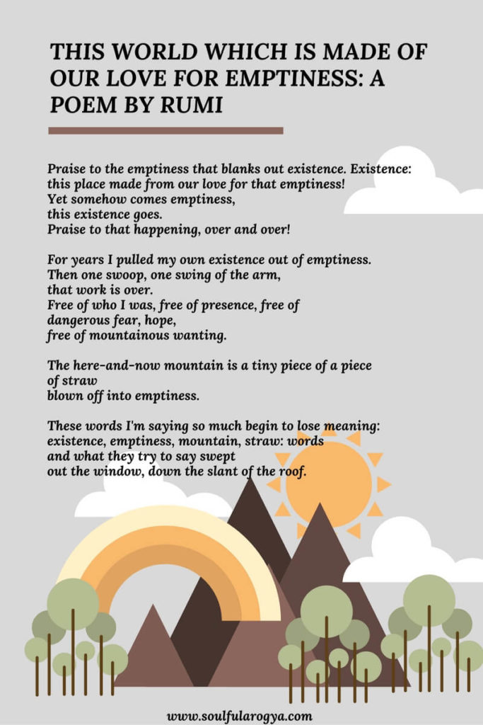 Love for Emptiness- Poem by Rumi