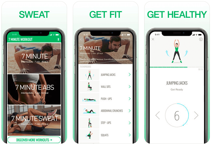7 Minute Workout Exercise App by Fast builder Ltd