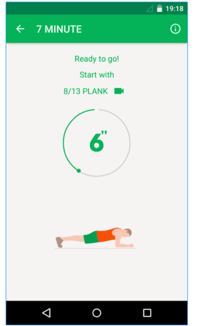 7 minute workout app by simple designs