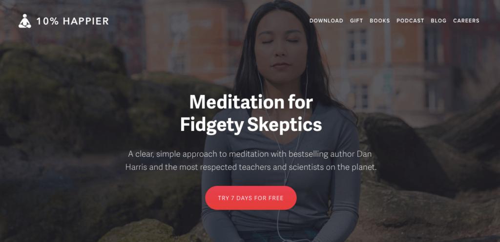 Ten Percent Happier App - Best Meditation Apps