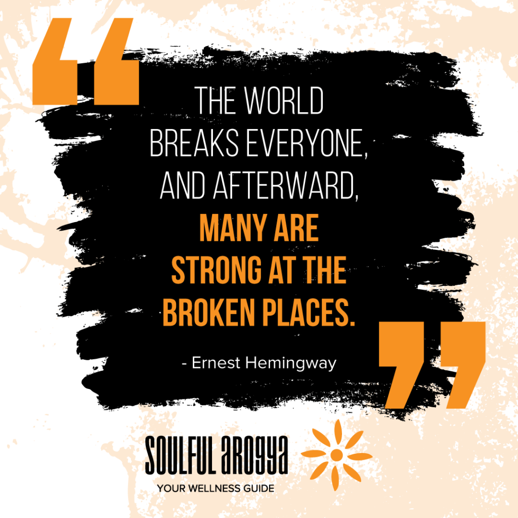 Hemingway Quote - Broken Places